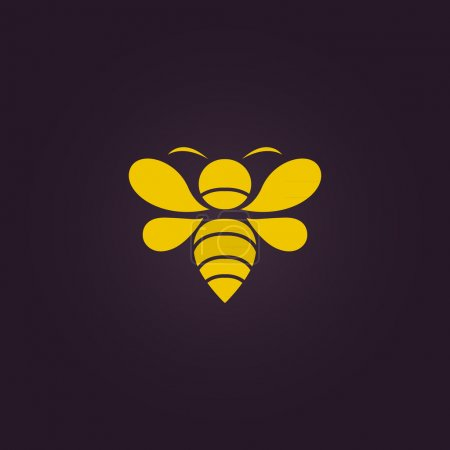 Illustration for Bee logo vector - Royalty Free Image