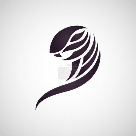 Illustration pour Cobra serpent logo vecteur - image libre de droit