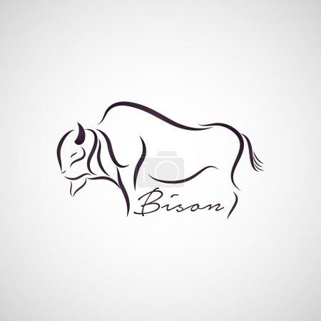 Illustration pour Vecteur de logo Bison - image libre de droit