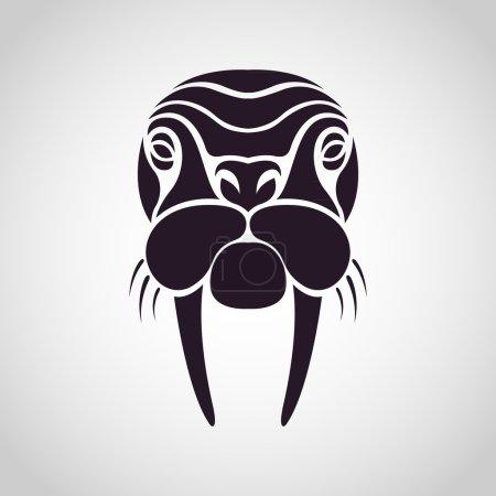 Walrus logo vector