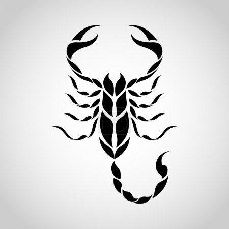 Illustration for Scorpion logo - Royalty Free Image