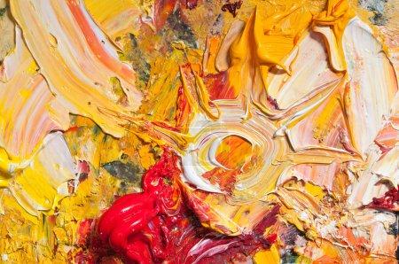 Photo pour Fond de peinture d'huile sur une palette classique - image libre de droit