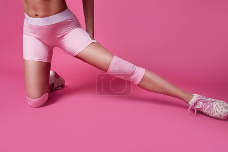 Beauty sexy woman sport yoga pilates fitness body shape clothes