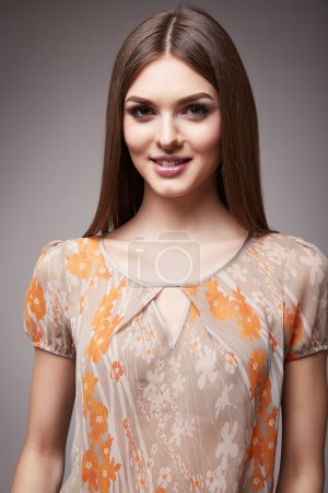 Beauty fashion clothes casual collection woman model brunette