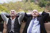 two businessmen having a break