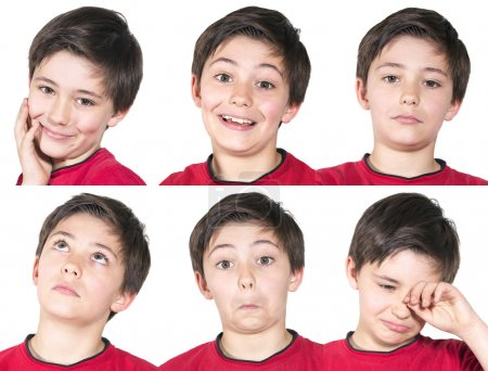 Photo for Variation of facial expressions of young boy - Royalty Free Image