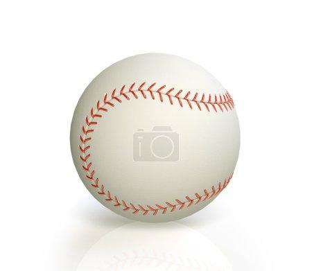 baseball on white background