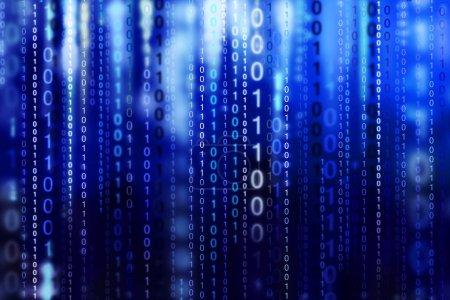 Photo pour Code binaire de l'ordinateur - fond abstrait - image libre de droit