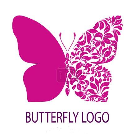 Purple butterfly logo