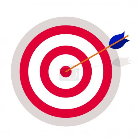 Photo for Targeting, achievement. Target hit by an arrow - Royalty Free Image
