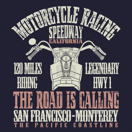 Motorcycle racing emblem