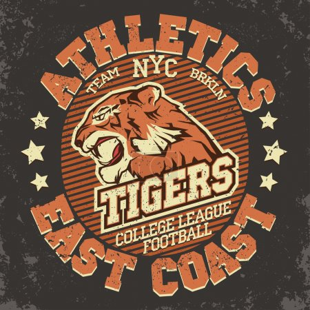 Angry Tiger Sport t-shirt graphics