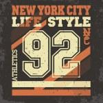 Постер, плакат: New York t shirt graphics