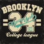 Постер, плакат: Brooklyn t shirt graphics