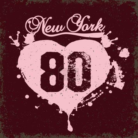 New York City Typography vector