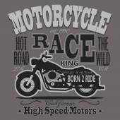Motorcycle Racing Typography Graphics California Motors T-shir