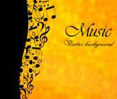 Music Backgound musical notes - vector illustration