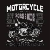 Motorcycle Racing Typography California Motors Bikers wear ve