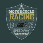 Motorcycle Racing emblem t-shirt