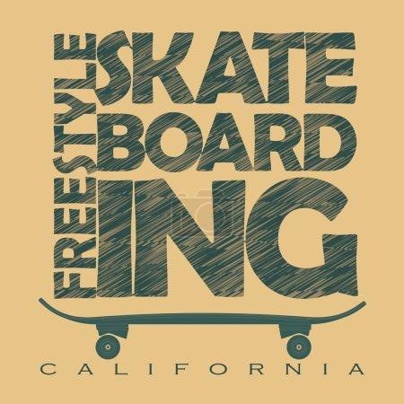Skateboarding t-shirt graphics
