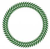 green laurel wreaths - vector illustration