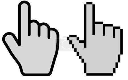 Hand cursor vector illustration