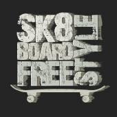Skateboarding tričko znak