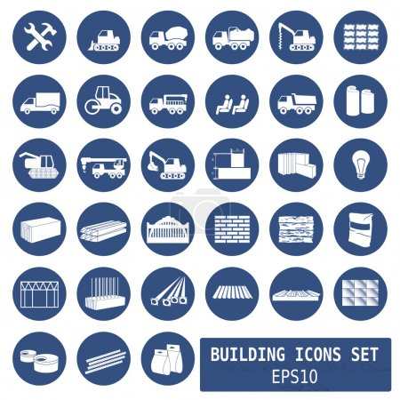 construction icons for websites  - vector illustration