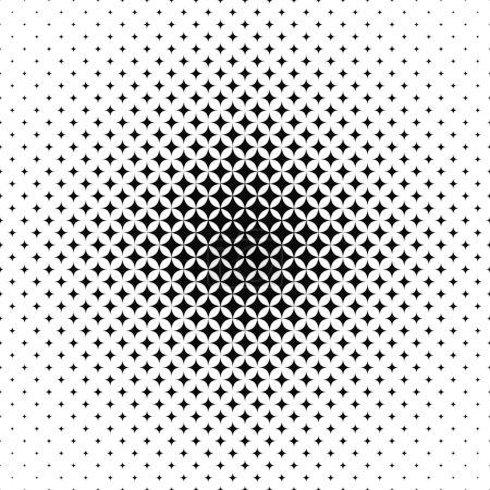 Illustration pour Modèle d'étoile vectorielle noir et blanc sans couture - image libre de droit