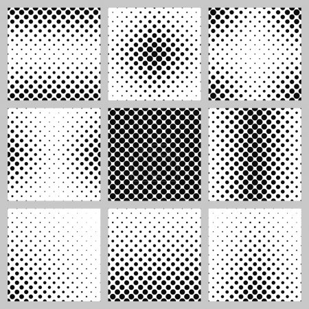 Illustration for Set of nine monochrome dot pattern designs - Royalty Free Image