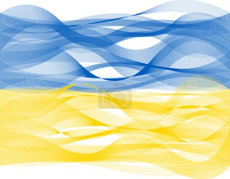 Wave line flag of Ukraine