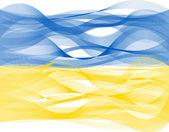 Wave line flag of Ukraine