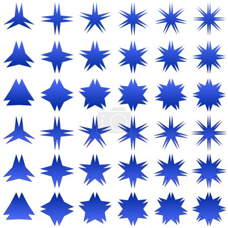 Blue star shape collection