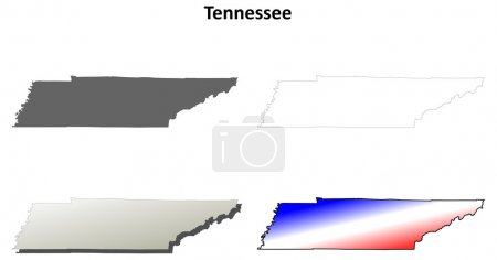 Tennessee outline map set