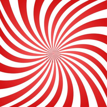 Red white spiral background