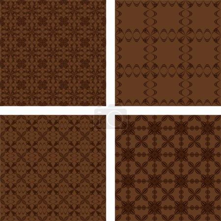 Brown Seamless pattern background set