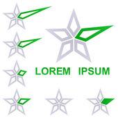 Star symbol business logo design set