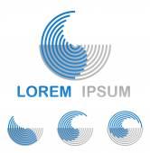 Blue round water technology logo