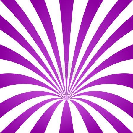 Illustration pour Violet rayé cône fond design - image libre de droit