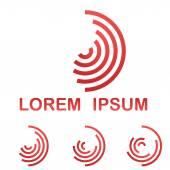 Red telecommunication symbol  icon set