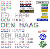 Den Haag (The Hague) text design set