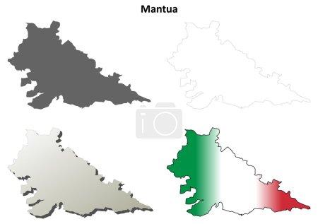 Mantua blank detailed outline map set on white...
