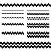 Graphic design elements - zigzag line divider set