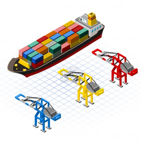 Isometric Ship with Cranes