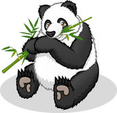 This image is a giant panda in cartoon illustration