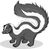 This image is a skunk in cartoon illustration