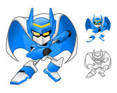 Robot Ninja Cartoon Character