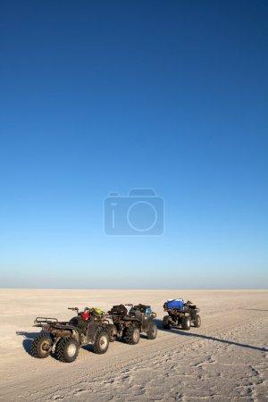Quad bikes on salt pan