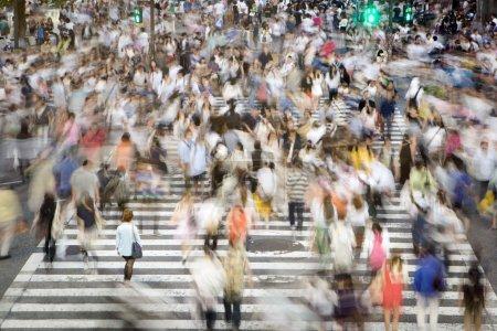 Photo for Shibuya scramble crossing passers - Royalty Free Image