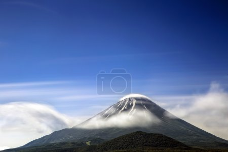 Clouds around Mount Fuji